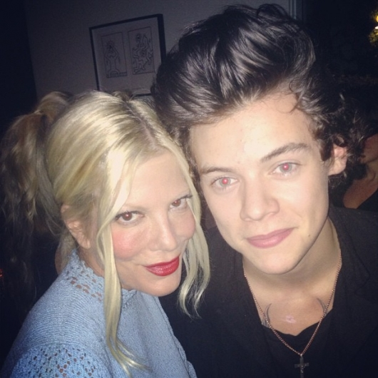 one direction, 1d, 1d 24.04.13, harry styles, tori spelling, harry in los angeles la, harry tori spelling