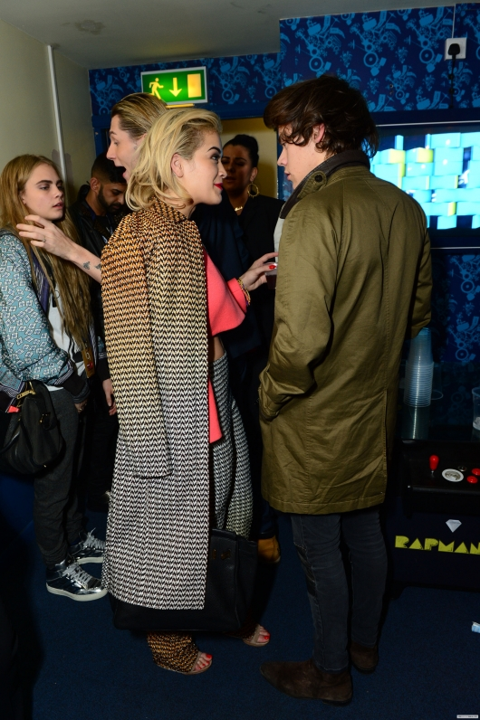 one direction,1d,1d 18.02.13,harry styles,War Child Pre-Brit Awards Party, rita ora, cara delavigne
