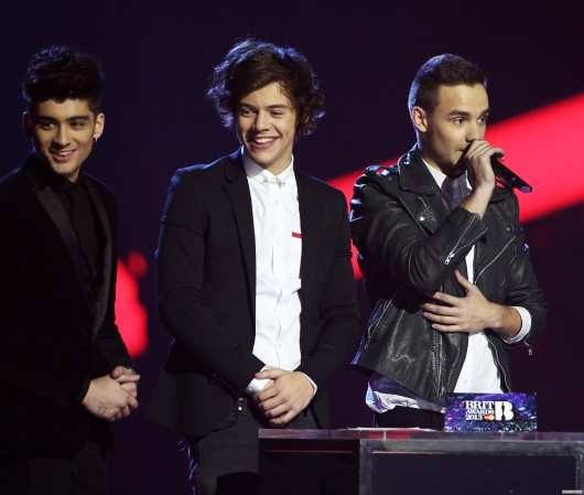 one direction, 1d, 1d 20.02.13, brit awards 2013, harry styles, liam payne, zayn malik, global success award