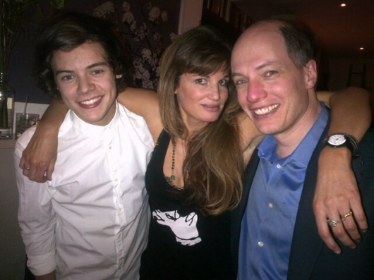one direction,1d,1d london 30.01.13,harry styles, Alain de Botton,Jemima Khan