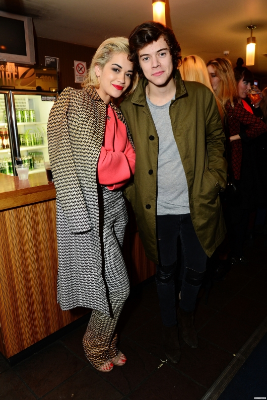 one direction,1d,1d 18.02.13,harry styles,War Child Pre-Brit Awards Party, rita ora