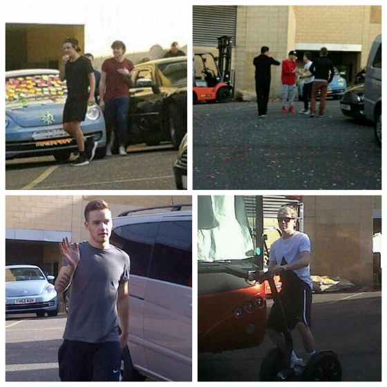 one direction, 1d, 1d nottingham 16.04.13, harry styles, liam payne, niall horan, zayn malik, niall on his segway, liam playing football video, liam che gioca a calcio video, video