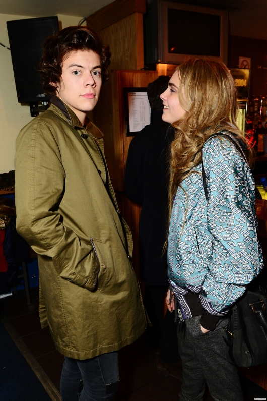 one direction,1d,1d 18.02.13,harry styles,War Child Pre-Brit Awards Party, cara delavigne