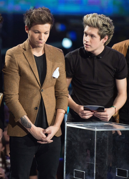 one direction,1d,1d cannes 26.01.13,nrj awards 2013,louis tomlinson,niall horan,best international group