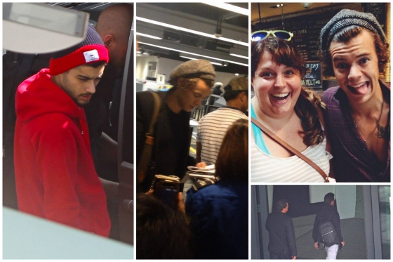 one direction, 1d, 1d 20.09.13, harry styles, liam payne, zayn malik, harry los angeles la lax airport 20.09.13, liam zayn heathrow london airport 20.09.13