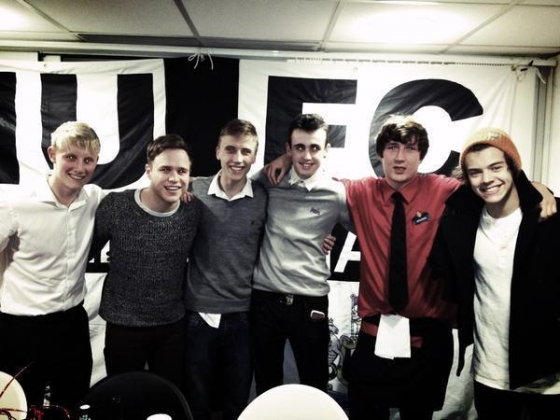 one direction,1d,1d 26.12.12,harry styles, olly murs, manchester, harry and olly murs