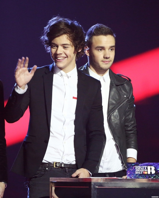 one direction, 1d, 1d 20.02.13, brit awards 2013, harry styles, liam payne, global success award