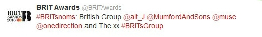one direction,1d,brit awards 2013, british group, nominee,