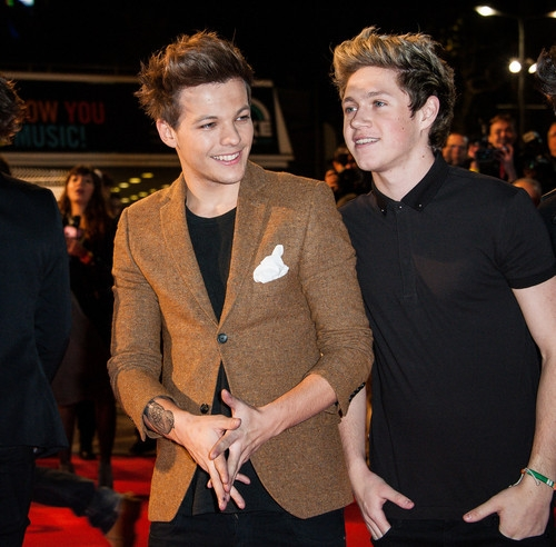 one direction,1d,1d cannes 26.01.13, nrj awards 2013, louis tomlinson, niall horan, red carpet