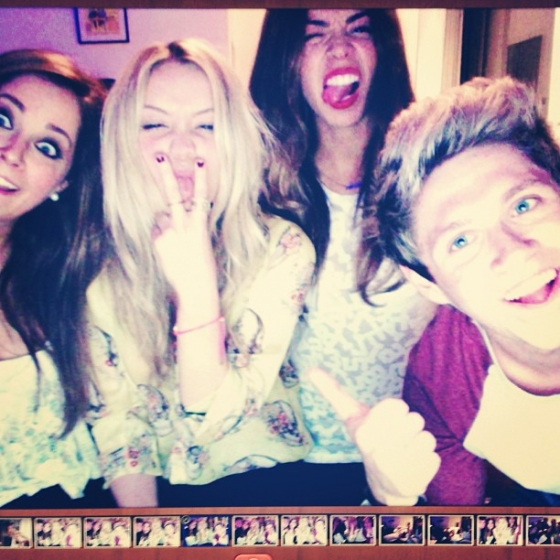 one direction, 1d, 1d london uk 28.05.13, niall horan, laura withmore, natalia jorquera, friends