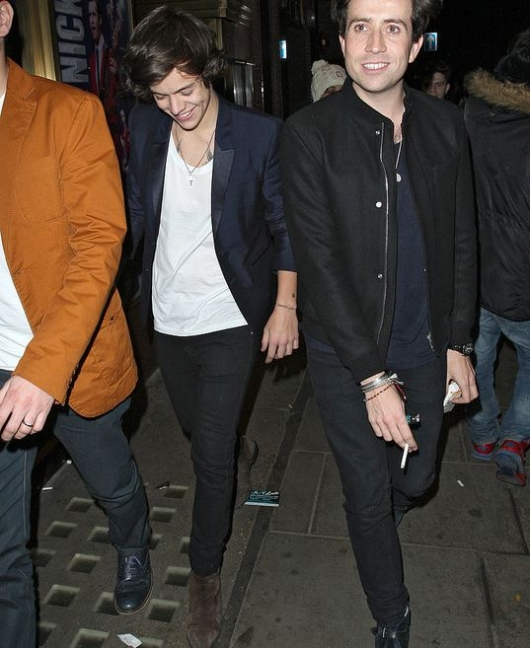 one direction,1d,1d 31.01.13,harry styles,19th birthday dinner,nick grimshaw