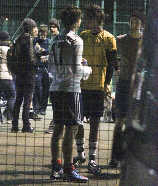 one direction,1d,1d 31.01.13,harry styles,louis tomlinson,football uniform,football match