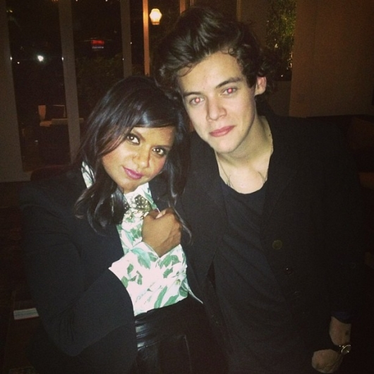 one direction, 1d, 1d 24.04.13, harry styles,, harry in los angeles la, harry mindy kaling, mindy kaling