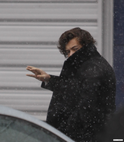 one direction,1d,1d yorkshire 13.02.13,harry styles,snow,neve