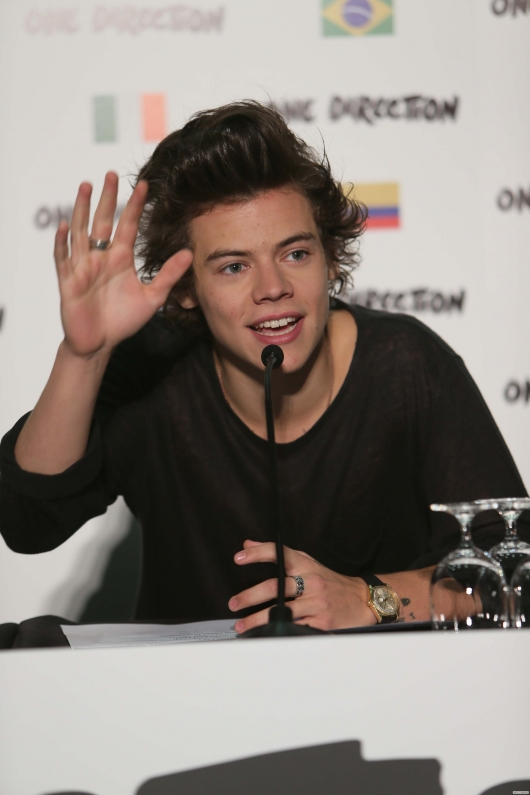 one direction, 1d, 1d wembley stadium 16.05.13, harry styles, beautiful photo of harry, bella foto di harry, #1bigannouncement, press conference