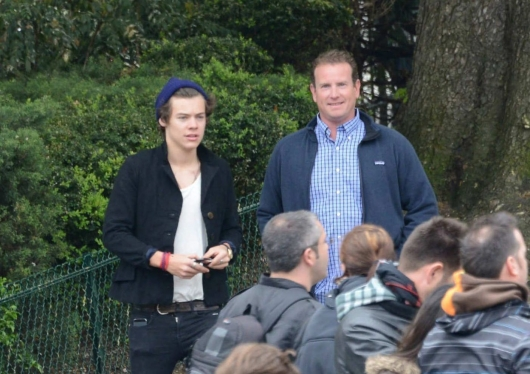 one direction, 1d, 1d 28.04.13, harry styles, harry in paris, cal aurand, harry cal aurand paris
