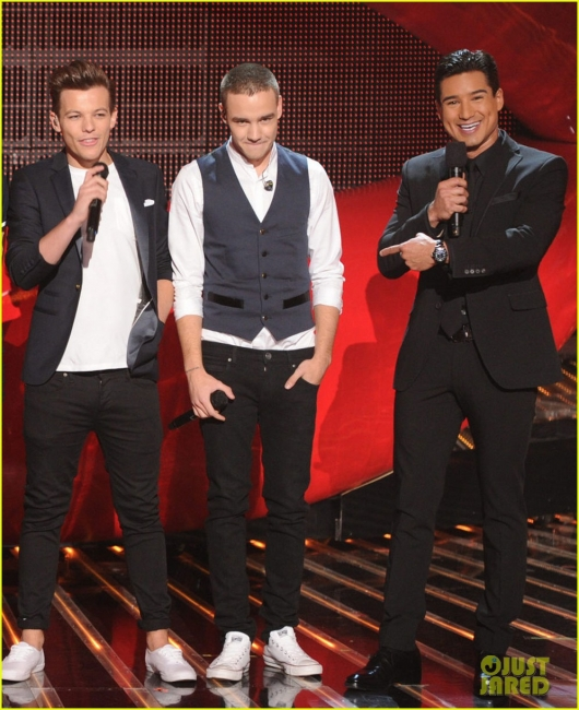 one direction,1d,1d los angeles la 20.12.12,x factor usa,liam payne,louis tomlinson,mario lopez