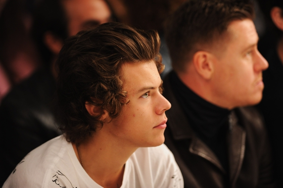 one direction, 1d, 1d 17.09.13, harry styles, topshop, london fashion week, #lfw, topshop fashion show, harry topshop lfw 17.09.13